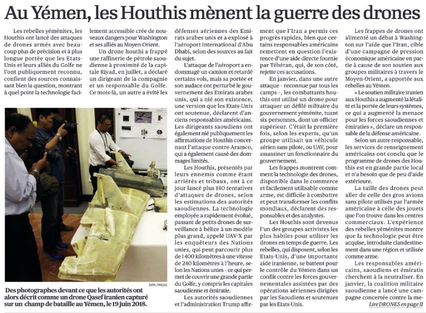 Image de l'article Au Yémen, les Houthis mènent la guerre des drones